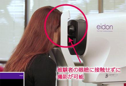 眼瞼が機器に接触しない